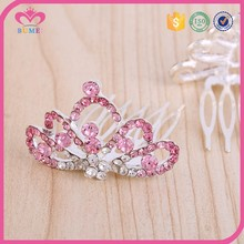 Women shocking pink hair accessories bridal tiara