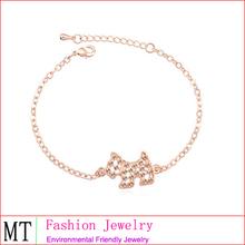 el diseño único de venta caliente de acero inoxidable bijoux pulsera de oro 18k