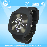 Newest Silicone Watch 5ATM Waterproof Japan Movement Customs logo adult size silicone watch wristband