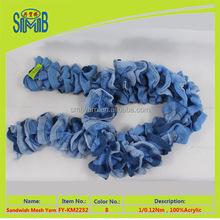 factory supply 100 acrylic fancy fishnet yarn for knitting scarf