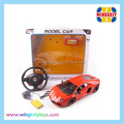1:8 gravity sensing steering wheel r/c car with light include battery and charger & hot sell rc car for child