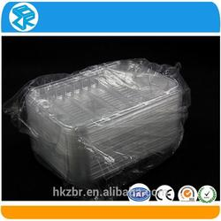 Outstanding quality plastic disposable sushi container tray blister packaging plastic disposable frozen food tray