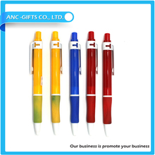 big clip advertising ball pen with custom logo design for promote sales