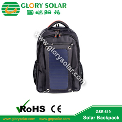 6.5W 6V Waterproof Solar Backpack bag for Ipods Iphone with CE ROHS ISO certificate