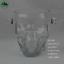 1500ml Skull Glass Ice Bucket