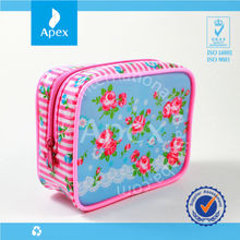Full printed zipper pvc cosmetic bag