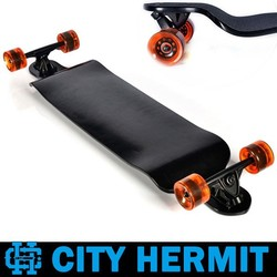"CITY HERMIT 9 ply canadian complete black downhill longboard 41""x 9.5"""