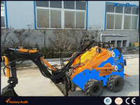 Top wheeled backhoe loader,engineering wheel tire with mni straight digger