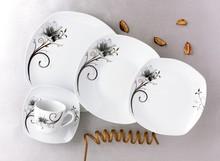 Impressão agradável cerâmica louça set boneco de cerâmica jogo de jantar vermelho jogo de jantar de cerâmica
