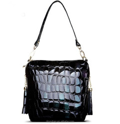 Stone skin fancy ladies side bags with strap