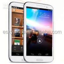 5.7inch unlocked smartphones Quad Core MT6589 Hero H9600+ Android mobile phone Bluetooth Dual Camera