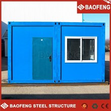 modern demountable portable modified shipping container house for shop