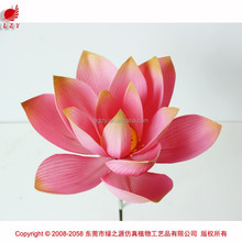 2015 PU flower making artificial lotus flower artificial floating flower for pools
