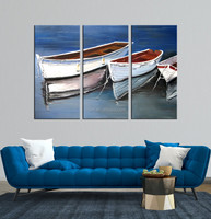 abstract Oil Painting fish Boat
