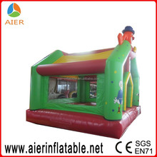 Green inflatable clown bouncer, bouncehouse bounce inflatable