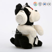 Hot new product for 2015 animated electic moving toy dog for kids plush music dog