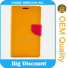 direct wholesale leather flip case for samsung galaxy mini s5570