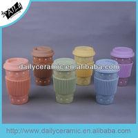 2015 hot sale 13oz ceramic silicon travel mug for gift or promotion