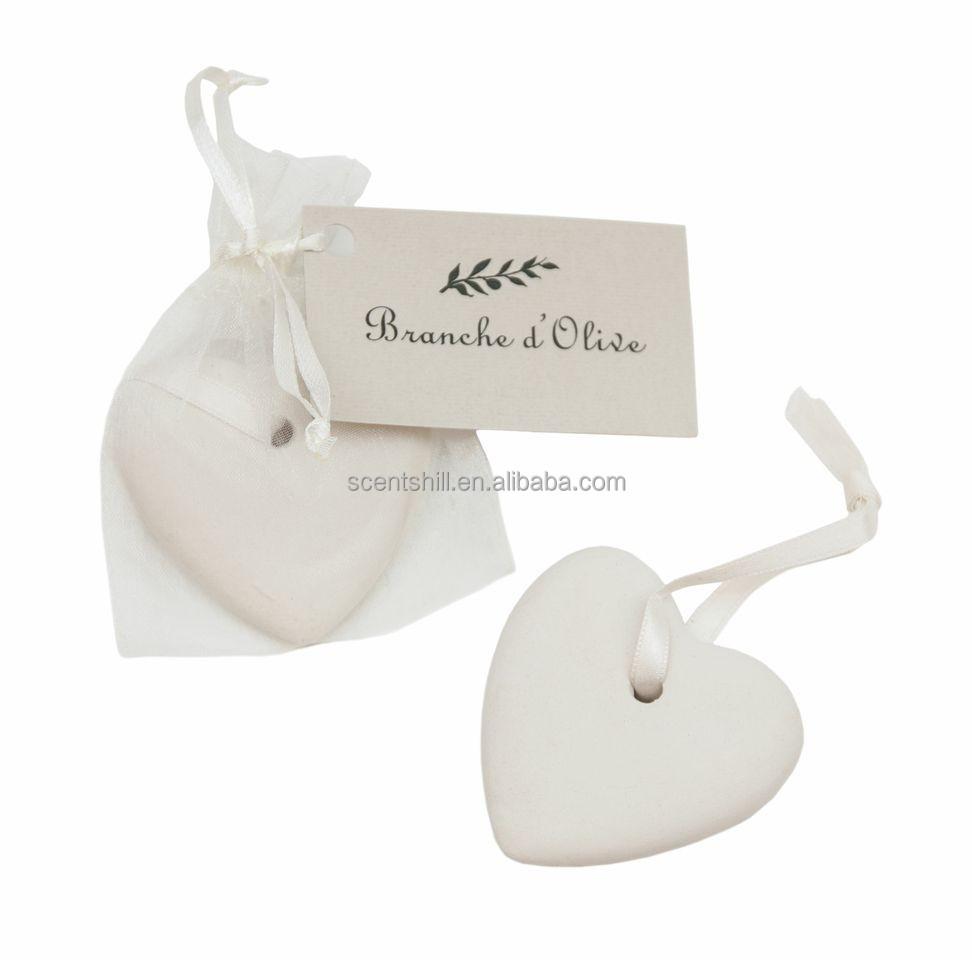 Promotional wholesale chamomile cedarwood citron scents air freshener decorative plaster ceramic