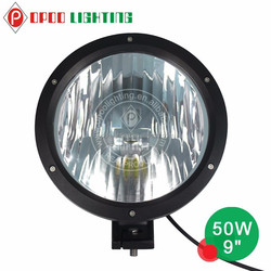 2015 hot new motorcycle parts 50w 9 inch motorcycle led driving lights