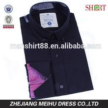 2015 mode bouton de conception bas à manches longues slim fit robe chemise pour hommes