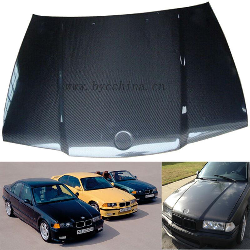 BMW E36 capó de fibra de carbono, el estilo OEM , 4Puertas 1992-1998 ...