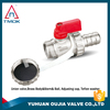 brass float valve/floating ball valve nickel-plated PPR with forged and full port and CE approved three way and electric control