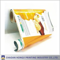 Customerized gravure printing food packaging film , laminated material food grade plastic packing roll film