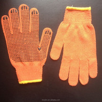 wonderful pvc dots coated cotton gloves , working gloves , labour gloves