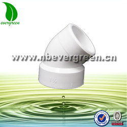 DIN ASTM D2665 DWV pvc pipe fitting 45 degree elbow