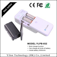 Made in China 5000mah multi function power bank for iphone charger portable