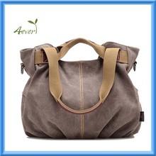 Leisure Canvas Top Handle Cross Body Bag Tote Handbags for Women