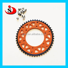 CNC alloy motorcycle sprockets and stainless steel chain for motocross supermoto dirt bike exc250 exc450 exc125