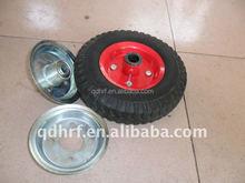 metal rim wagon solid rubber wheels 2.50-4