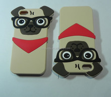 2015 promotion pet dog silicone 3D cute animal mobile phone case for iphone