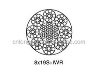 Elevator steel wire rope 8*19S+IWR Diameter 9mm Made in China Lift steel wire rope