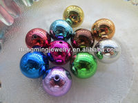 AAA Quality Chunky 20mm Colorful Acrylic UV Plating Beads for Chunky Necklace Jewelry
