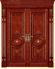 Modern luxury south indian house wood front door designs