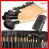 YASHI free sample High Quality Professional Makeup Red Handle 24PCS Cosmetic Brush Set