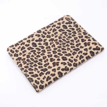 Leopard pattern leather stand case for ipad mini 3 wallet card pocket case