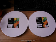 Artist quality round blank canvas stretched canvas manufacturer China dire