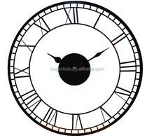 Modern Glass decor Mirror wall clock with customized design