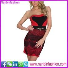 wholesale red off shoulder evening dress