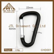 fashion metal small black carabiner