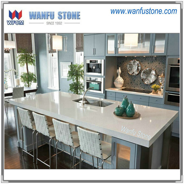 2014 new type hot sale white quartz kitchen countertop artificial