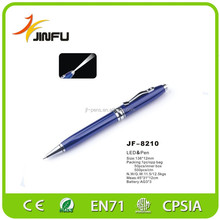 promotional pen with led light metal pen with logo glitter pen
