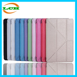 New arrival high quality 8 folds ultrathin magnetic flip pu leather case for ipad pro