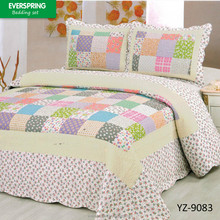 Patchwork quilt manufacturer supply cheap bed sheet butterfly patchwork quilt