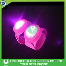Supplies 3 Flashing Ways Silicone LED Flashing Slap Bracelet, Custom Cheap Colorful Light Party Up LED Flashing Slap Bracelet