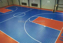 PP suspended interlocking sports flooring for basketball court